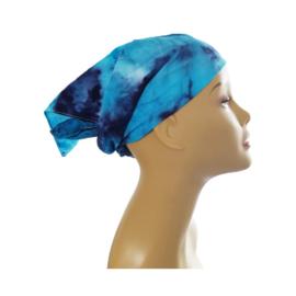 Tie Dye bandana midnight blue - turquoise