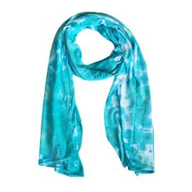 Tie Dye sjaaltje jade green en blauw
