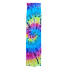 Tie Dye sporthanddoek spiral rainbow 30x120 cm