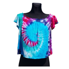 Tie dye off the shoulder top - Maat M