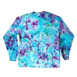Tie Dye trui paars groen blauw
