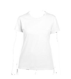 T-shirt wit - ronde hals - dames