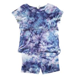 Tie dye set lila paars blauw roze - Maat M/L