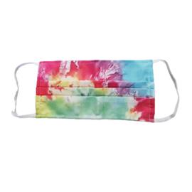 Wasbaar mondkapje tie dye multi color