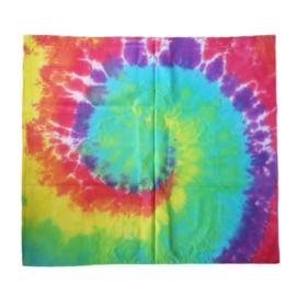 Tie dye kussensloop spiral rainbow