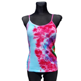 Tie dye spaghetti top -multi color - Maat L