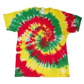 Tie dye T-shirt - spiral - Maat L