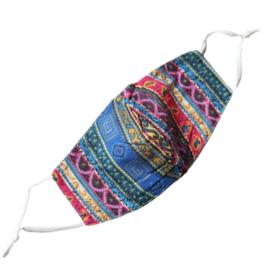 Wasbaar mondkapje design multicolor