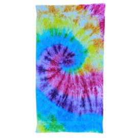 Tie Dye strandlaken spiral rainbow 95 x 170 cm