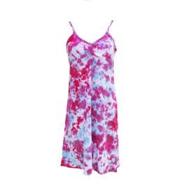 Jurkje Tie Dye - lichtblauw roze - L