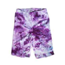 Tie dye set lila paars blauw roze - Maat S