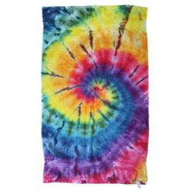 Tie Dye badhanddoek spiral rainbow 70 x 130 cm