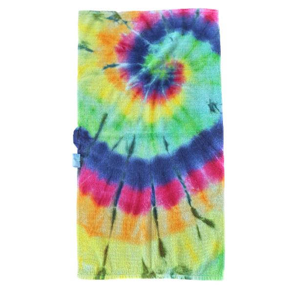 Tie Dye handdoek spiral rainbow 50 x 100 cm