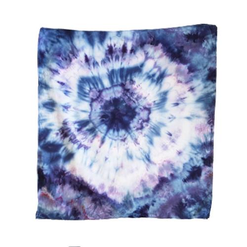 Tie Dye bandana blauw paars roze