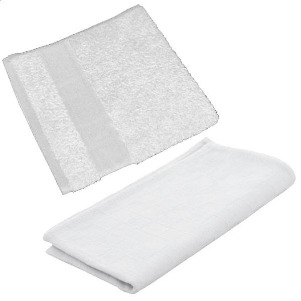 Keukenset handdoek en theedoek wit