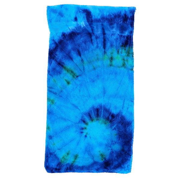 Tie Dye handdoek spiral blauw groen 50 x 100 cm