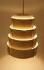 Vintage Lamellen Hang Lamp Geel