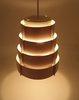Vintage Lamellen Hang Lamp Roze