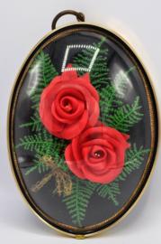 Lijstje bol glas met rozen