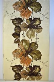 Vintage curtain fabric grape leaf