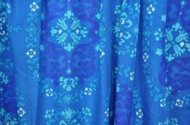 Vintage gordijn blauwtinten