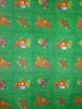 Fabric green with fruit decor