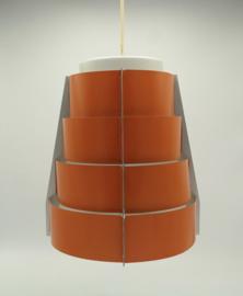 Vintage Lamellen Hang Lamp oranje