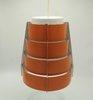 Vintage Multi Layered lamellar Pendant Light Orange