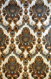 Brown baroque pattern