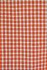 vintage fabric, checkered white orange