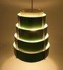 Set van 2 Vintage Lamellen Hang Lampen Groen (ook los verkrijgbaar) prijs is per stuk