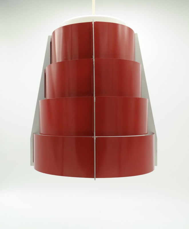 Set van 2 Vintage Lamellen Hang Lampen Rood (ook los verkrijgbaar) prijs is per stuk
