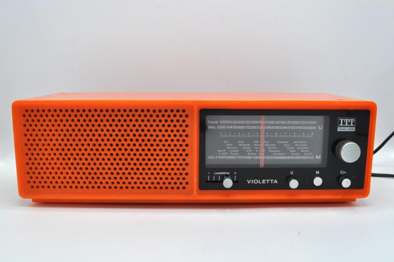 ITT Schaub Lorenz transistor radio oranje