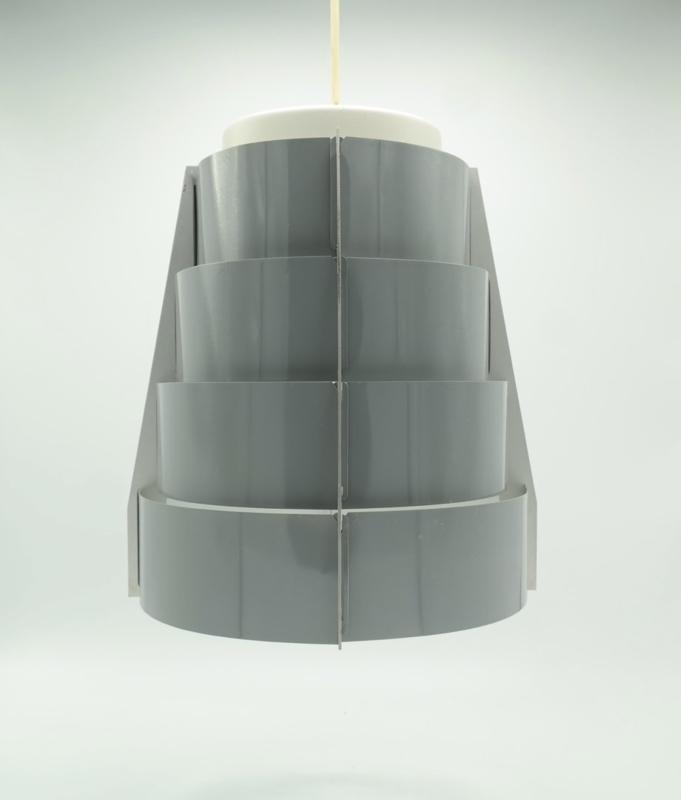 Set van 2 Vintage Lamellen Hang Lampen Grijs (ook los verkrijgbaar) prijs is per stuk
