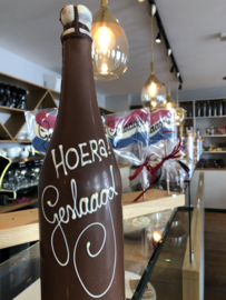 chocolade champagne fles