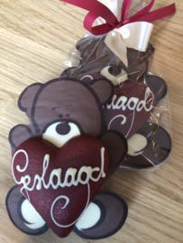 chocolade beertje met 3D hartje