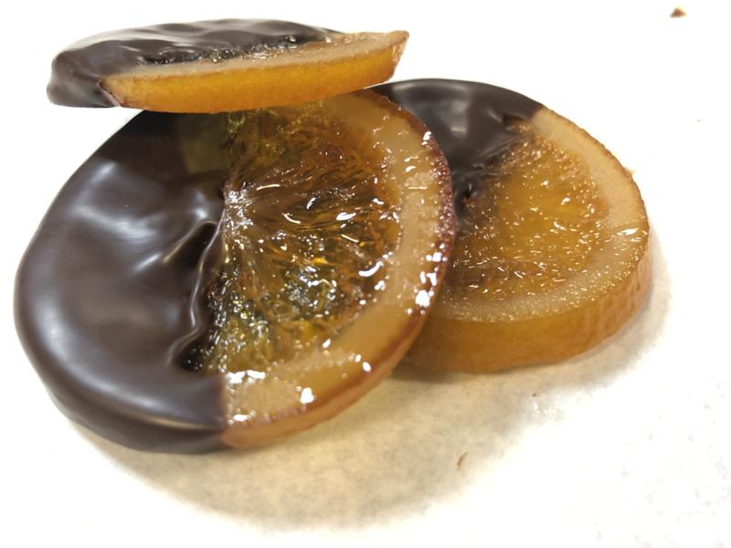 Orange Slice in pure chocolade