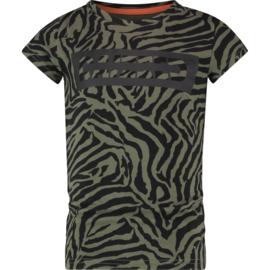 Raizzed Girls T-Shirt Florence  Army Zebra w2 116