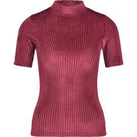 Raizzed Women T-Shirt Rib Havy Bordeaux Red XS