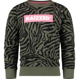 Raizzed Girls Sweater Valletta Army Zebra w2 116