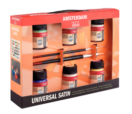 Amsterdam Universal Satin set 6x16 ml flacon