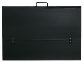 Tekenmap kunststof zwart 62x86x3cm