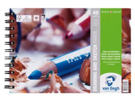 Gogh Drawing & Sketching blok 14X21 40 vellen, 200 g FSC-MIX