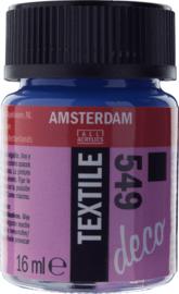 Amsterdam (Decorfin) Textielverf Fles 16 ml Blauwviolet Dekkend 549