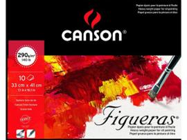 Canson  Figueras  olie- en acrylpapier  blok  10VL  33x41 290G