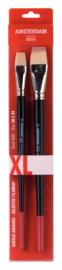 Amsterdam Acrylverf set (2  penselen  18-24) XL