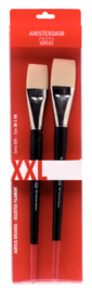 Amsterdam Acrylverf set (2  penselen  36-48) XXL