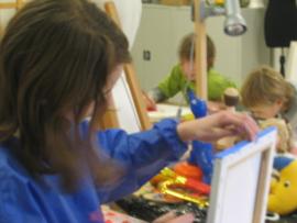 Tekenen- en schilderen JEUGD (6 t/m 12 jaar) woensdagmiddag  16 lessen x 2 uur