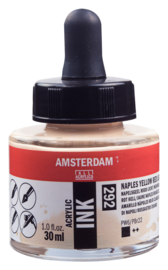 Amsterdam Acrylic ink  Napelsgeel rood L 292