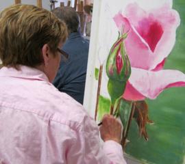 Tekenen- en schilderen VOLWASSENEN (19 jaar +) dinsdagavond 16  lessen x 3 uur